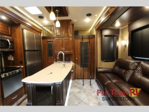 Class and style inside this toy hauler!