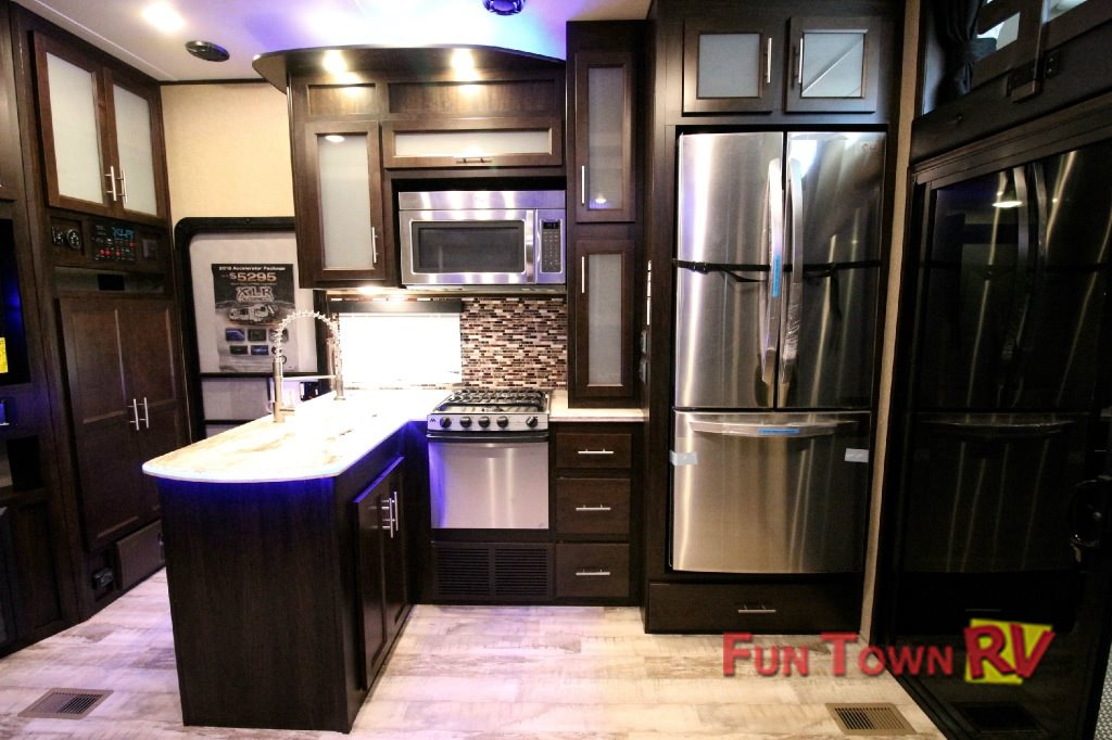 XLR Thunderbolt Fifth Wheel Toy Hauler Kitchen