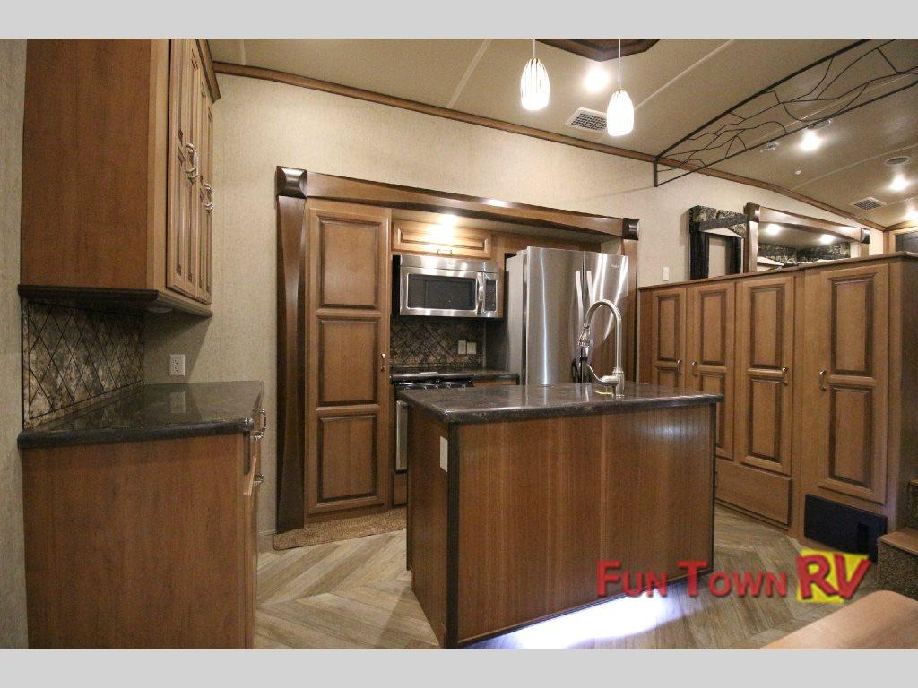 Forest River Cedar Creek Hathaway Edition 38FL6 Fifth Wheel Kitchen