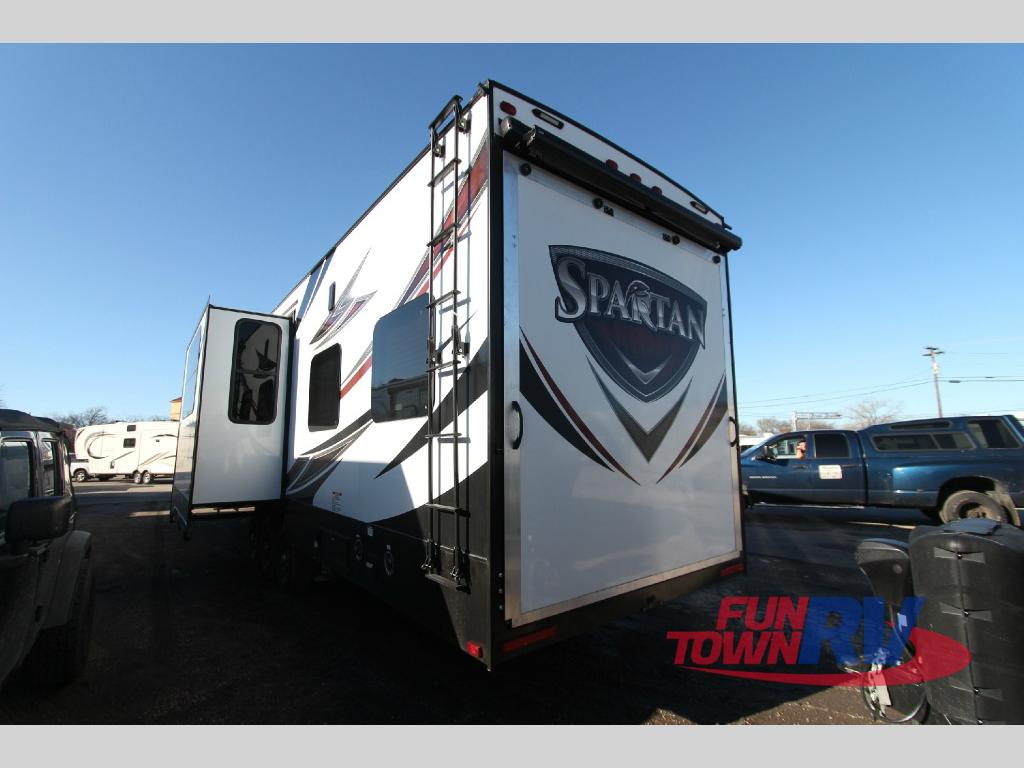 Prime Time Spartan Fifth Wheel Toy Hauler Interior Rear Ramp