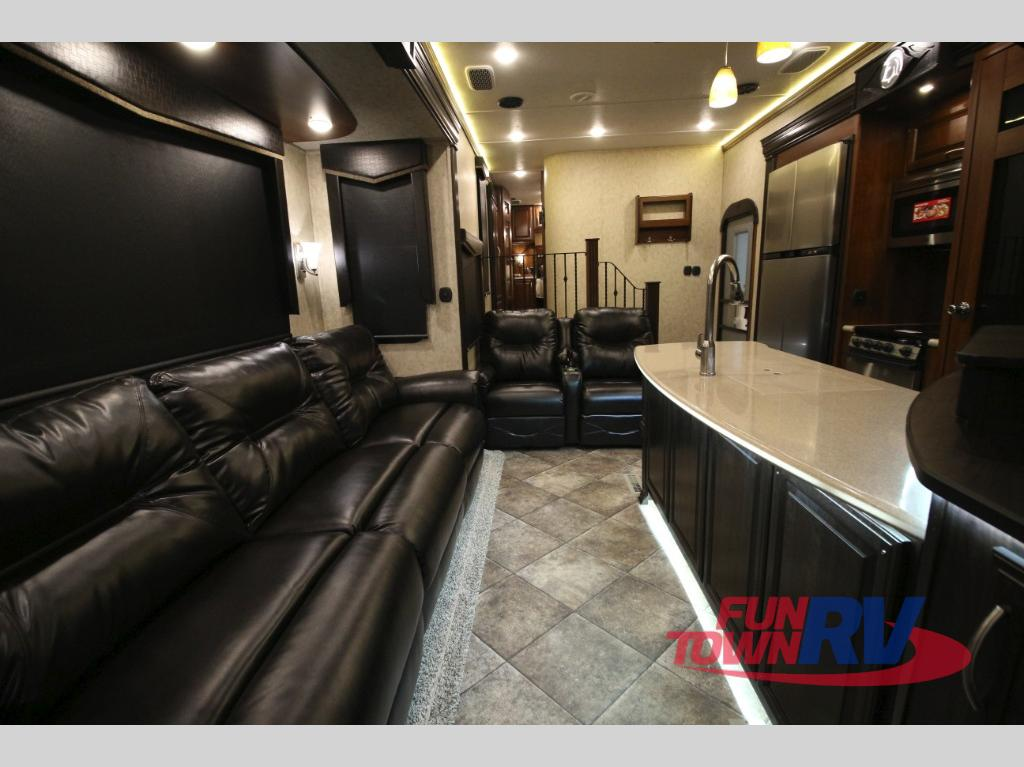Prime Time Spartan Fifth Wheel Toy Hauler Interior Seating