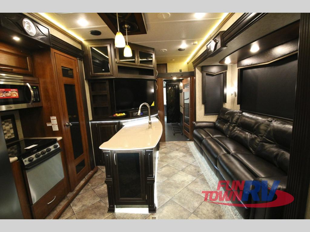 Prime Time Spartan Fifth Wheel Toy Hauler Interior