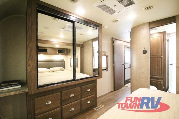 Forest River Rockwood Signature Ultra Lite Travel Trailer Bedroom