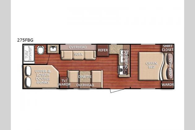 Gulf Stream Kingsport 275FBG  Travel Trailers Floorplan