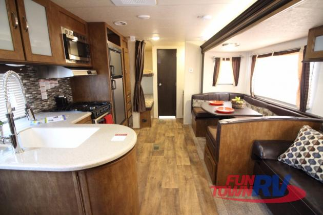 Forest River Wildwood 28DBUD Bunkhouse Travel Trailer Interior