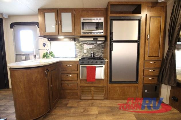 Forest River Wildwood 28DBUD Bunkhouse Travel Trailer Kitchen