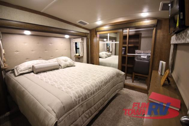 Forest River Cedar Creek Hathaway Edition Fifth Wheel Bedroom