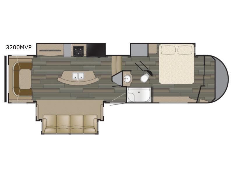 Heartland Sundance 3200MVP Fifth Wheel Floorplan