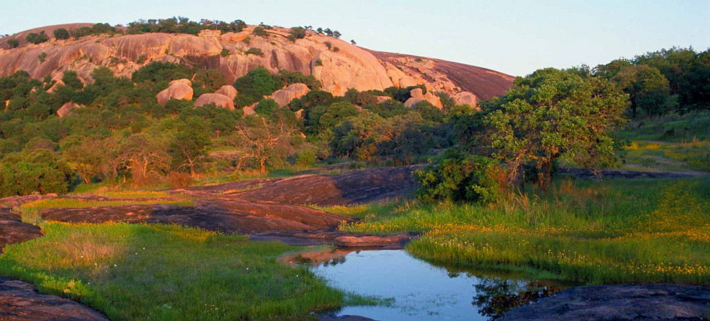 enchanted rock during the summer